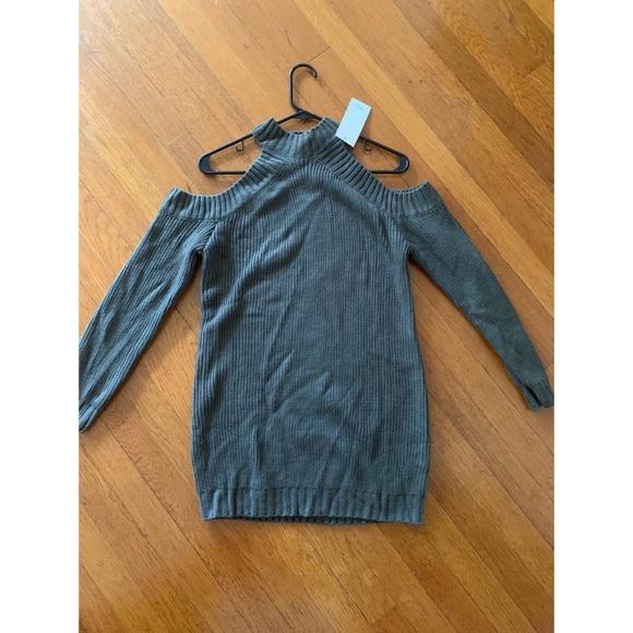 Tobi Dresses & Skirts - Tobi olive green sweater dress